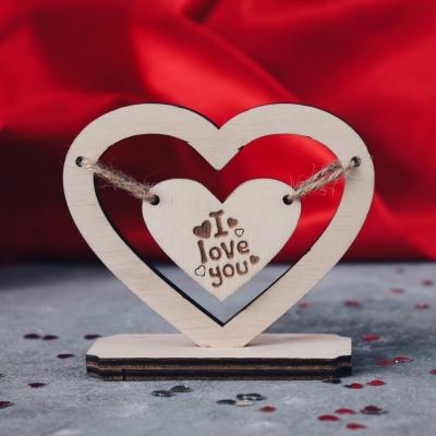Сердце валентинка из дерева v1