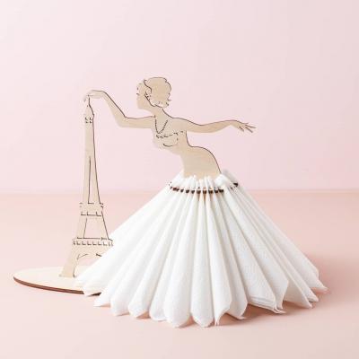 Салфетница из дерева дизайн Париж