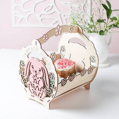 """Пасхальная корзинка с зайчиком для яиц и кулича. Дизайн """"Светлая Пасха"""""""