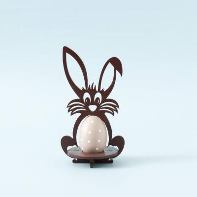 Пасхальная подставка под яйца Зайчик цвет коричневый (В наличии)