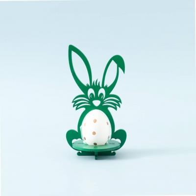Пасхальная подставка под яйца Зайчик цвет зеленый (В наличии)