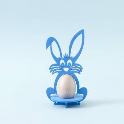 Пасхальная подставка под яйца Зайчик цвет голубой (В наличии)