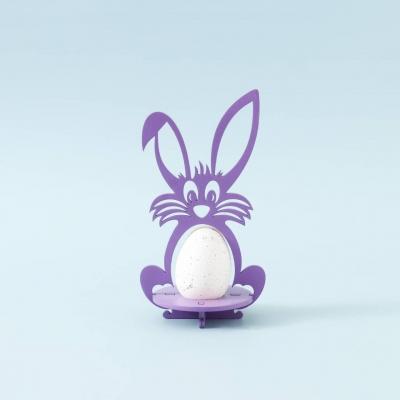 Пасхальная подставка под яйца DomLazera Зайчик 6054_1  17*9см цвет фиолетовый (В наличии)