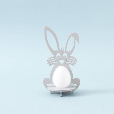 Пасхальная подставка под яйца DomLazera Зайчик 6054_1 17*9см  цвет серый  (В наличии)