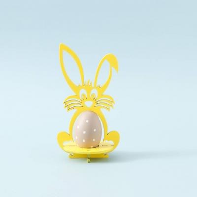 Пасхальная подставка под яйца Зайчик цвет желтый (В наличии)