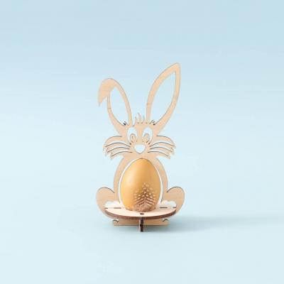 Пасхальная подставка под яйца Зайчик без покраски (В наличии)