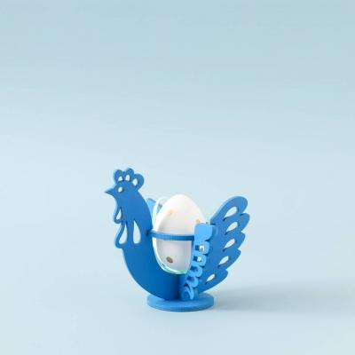 Пасхальная подставка под яйца DomLazerа Курочка 6106 12,5*10,7*11,6см цвет голубой (В наличии)