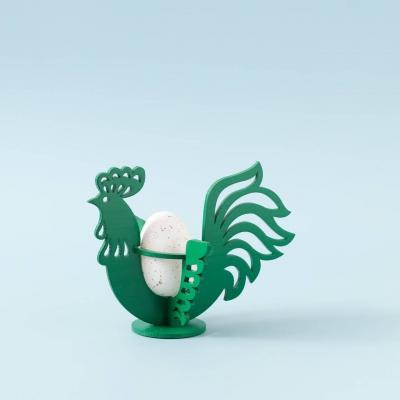 Пасхальная подставка под яйца DomLazerа Петушок 6106_1 12,5*10,7*11,6см цвет зеленый (В наличии)