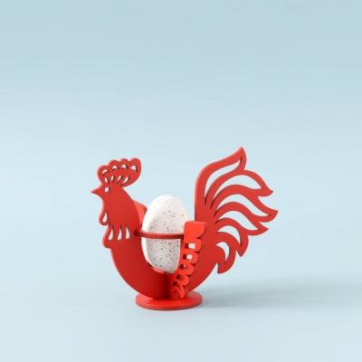 Пасхальная подставка под яйца DomLazerа Петушок 6106_1 12,5*10,7*11,6см цвет красный (В наличии)