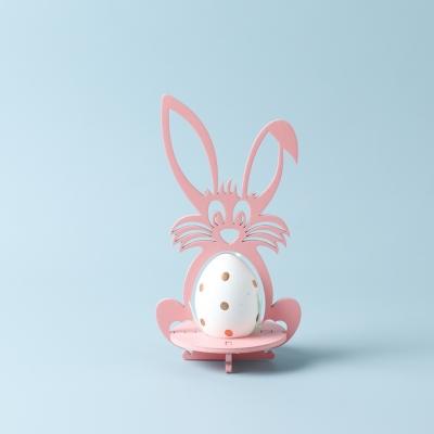 Пасхальная подставка под яйца DomLazera Зайчик 6054_1 17*9см цвет розовый (В наличии)
