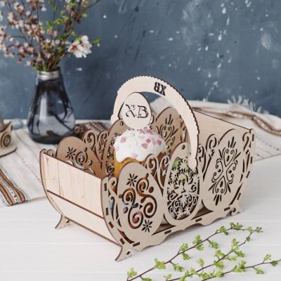 Деревянная подставка для Пасхальных яиц дизайн ажурные яйца