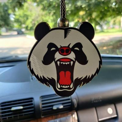 """Ароматизатор в машину из дерева, дизайн """"Злая панда"""""""