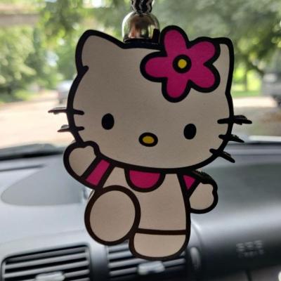 "Ароматизатор в машину из дерева, дизайн ""Hello Kitty"""