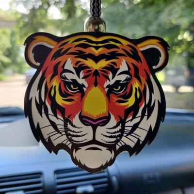 """Ароматизатор в машину из дерева, дизайн """"Тигр"""""""