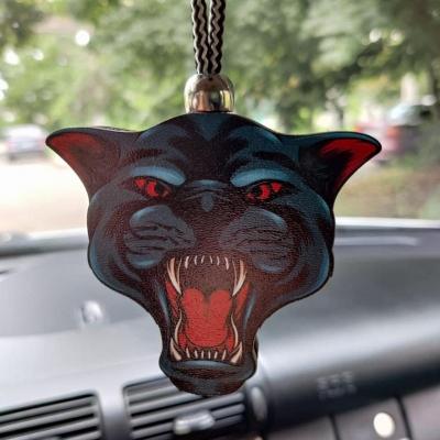 """Ароматизатор в машину из дерева, дизайн """"Злая Пантера"""""""