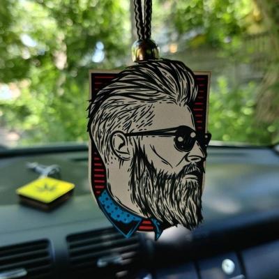"""Ароматизатор в машину из дерева, дизайн """"Хипстер"""""""