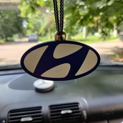 """Ароматизатор в машину из дерева, дизайн """"Логотип Hyundai"""""""