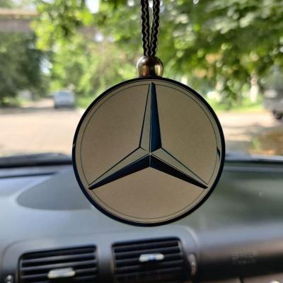 """Ароматизатор в машину из дерева, дизайн """"Логотип Mercedes-Benz"""""""