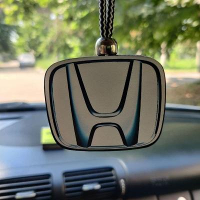 """Ароматизатор в машину из дерева, дизайн """"Логотип Honda"""""""