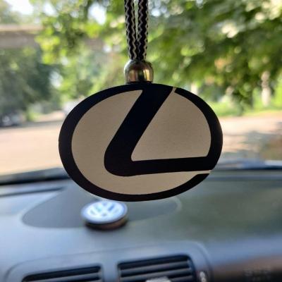 """Ароматизатор в машину из дерева, дизайн """"Логотип Lexus"""""""