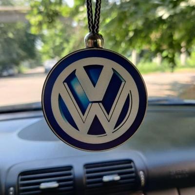 """Ароматизатор в машину из дерева, дизайн """"Логотип Volkswagen"""""""