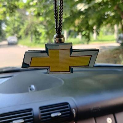 """Ароматизатор в машину из дерева, дизайн """"Логотип Chevrolet"""""""