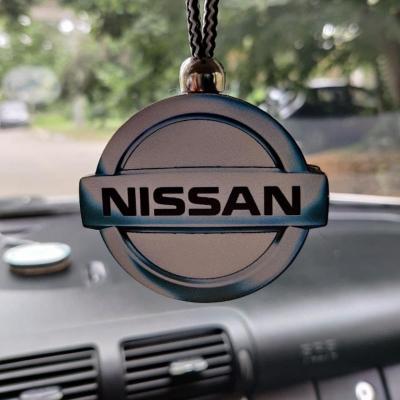 """Ароматизатор в машину из дерева, дизайн """"Логотип Nissan"""""""