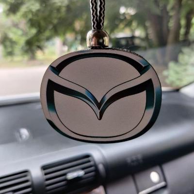 """Ароматизатор в машину из дерева, дизайн """"Логотип Mazda"""""""