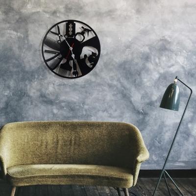 "Декор на стену. Настенные часы ""BarberShop"" v2"