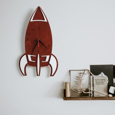 """Декор на стену. Настенные часы """"Ракета"""""""