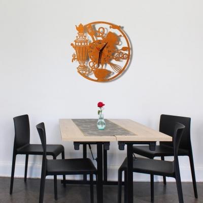 Декор на стену. Настенные часы. Кухонные с самоваром