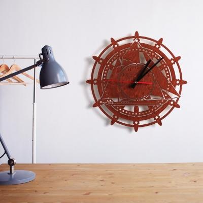 """Декор на стену. Настенные часы """"Парусная Яхта"""""""