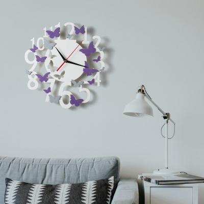 """Декор на стену. Настенные часы """"Бабочки"""""""