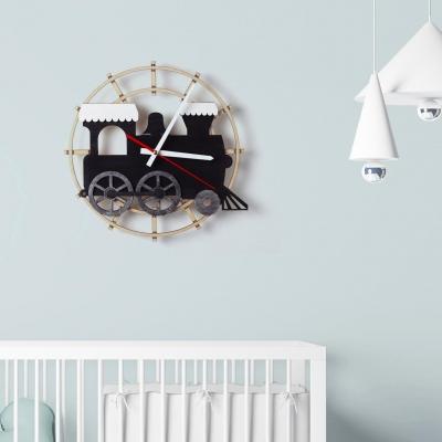 """Декор на стену. Настенные часы """"Паровозик"""""""