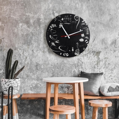 """Декор на стену. Настенные часы """"Coffee Time"""""""