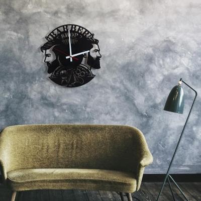 "Декор на стену. Настенные часы ""BarberShop v3"""