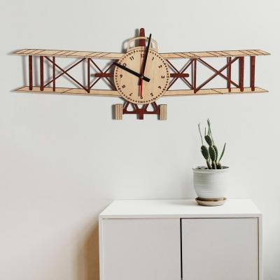 """Декор на стену. Настенные часы """"Самолет"""""""