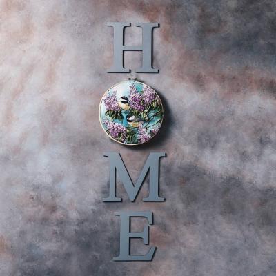 Деревянные буквы в интерьере, декор на стену в виде надписей