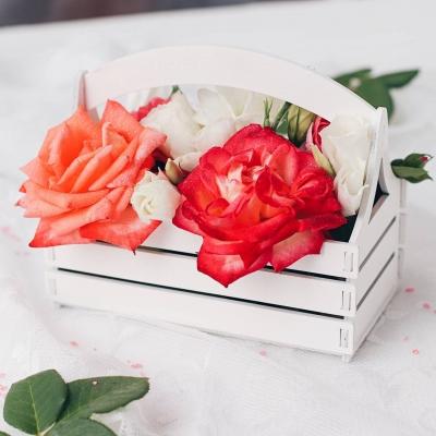 """Кашпо для цветов, кашпо из фанеры, корзинка для цветов дизайн """"Корзинка мини"""""""