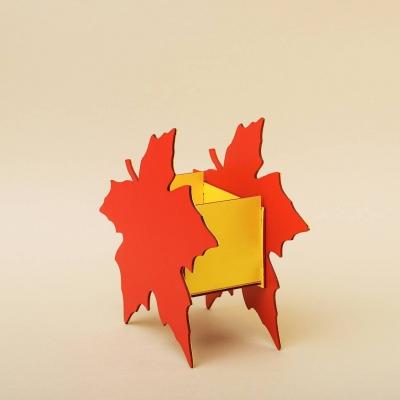 """Кашпо для цветов, кашпо из фанеры, корзинка для цветов дизайн """"Кленовый лист"""""""