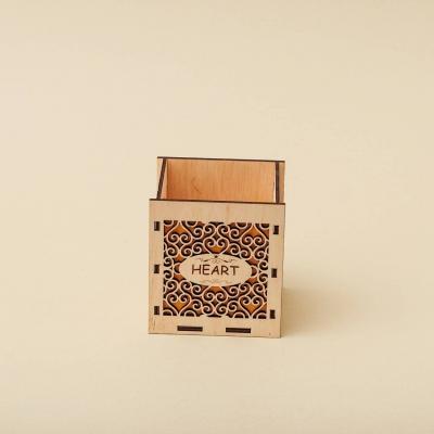 """Кашпо для цветов, кашпо из фанеры, корзинка для цветов дизайн """"Корзинка абстракция мелкая"""""""