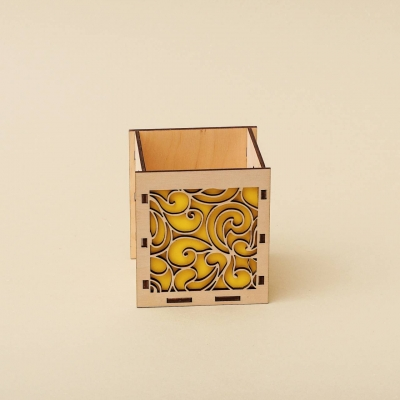 """Кашпо для цветов, кашпо из фанеры, корзинка для цветов дизайн """"Корзинка абстракция крупная"""""""