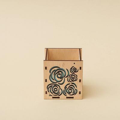 """Кашпо для цветов, кашпо из фанеры, корзинка для цветов дизайн """"Корзинка розы"""""""