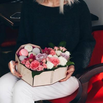 Кашпо для цветов сердце коробка, корзинка для цветов