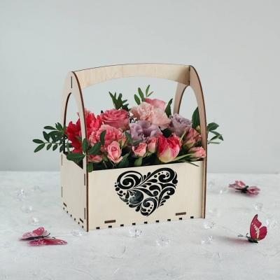 Кашпо для цветов забор с сердцем, корзинка для цветов