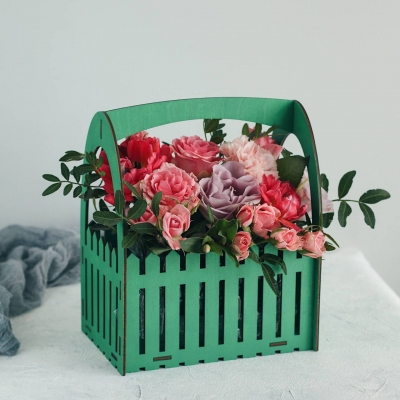 Кашпо для цветов забор, корзинка для цветов