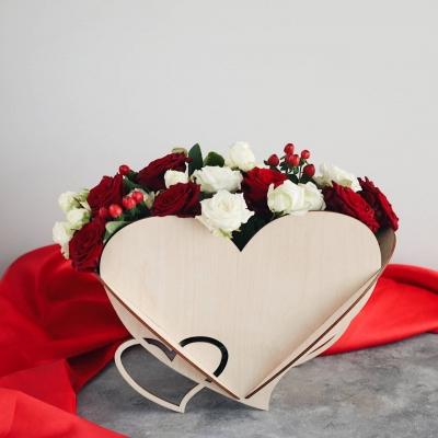 Кашпо для цветов сердце, корзинка для цветов