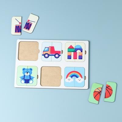 """Сортер-головоломка для детей """"Половинки игрушек"""" UF"""