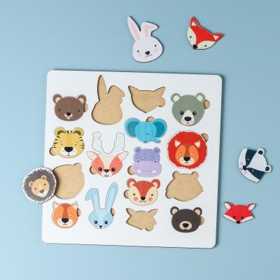 """Сортер-головоломка для детей """"Животные"""" 16 деталей v1 UF"""