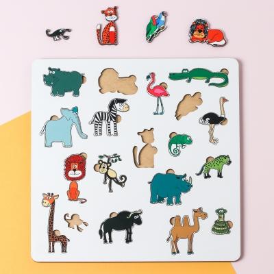 """Сортер-головоломка для детей """"Животные"""" 19 деталей v3 UF"""